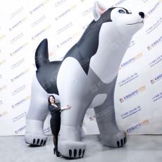 Надувная фигура собака Хаски