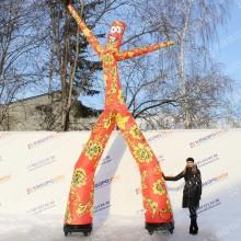 Декорации на масленицу фигура надувная аэромен танцующий