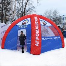 Пневмоконструкция палатка для предприятия