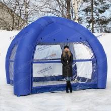 Надувной шатер с прозрачными стенками купить