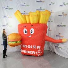 Надувная реклама гамбургер