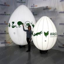 Надувные яйца на подставке 2м и 3м зоопарк с подсветкой