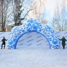 Пневмофигура арка гжель 8х4,5м