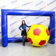 Аттракцион футбольные ворота надувные с сеткой