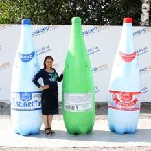 Надувная фигура копия бутылки с водой