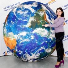 большой надувной мяч земля глобус