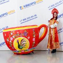 Надувная фигура Чашка городецкая роспись