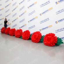 Надувная гирлянда цветы Гвоздик
