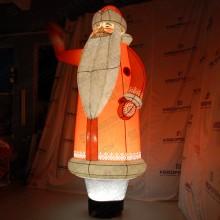 Надувная фигура Дед Мороз с подсветкой