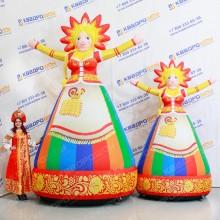 Надувные декорации на праздник Масленицы Девушка