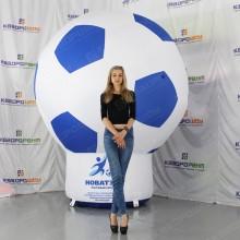 Футбольная декорация огромный мяч