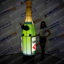 Надувная рекламная фигура с подсветкой Бутылка шампанского