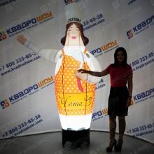 Фигура Женщины Повара с подсветкой