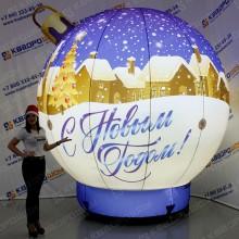 Декорация новогодняя надувной шар игрушка