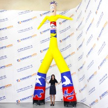 Фигура рекламная надувная Аэромен
