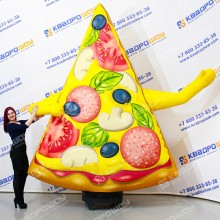Надувная фигура Кусочек пиццы с машущей рукой
