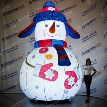 Снеговик с подсветкой надувной