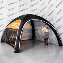 фирменная черная палатка с логотипом