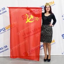 Флаг прямоугольный с гербом СССР