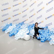 Надувная декорация гирлянда Снежинка