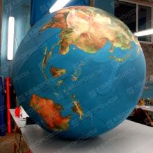 Огромная надувная фигура глобус