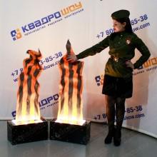 Холодный огонь декорация на 9 мая