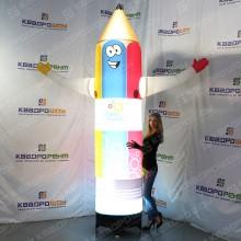 Рекламный надувной карандаш с подсветкой