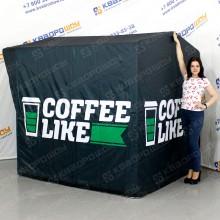 каркасная рекламная палатка для кофе
