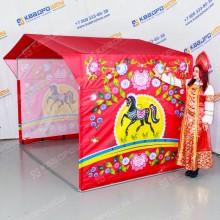 Палатка торговая с городецкой росписью
