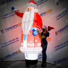 Дед Мороз с машущей рукой надувной