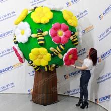Надувная фигура Дерево с цветами и пчелами