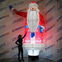 Фигура воздушная Дед Мороз с подсветкой