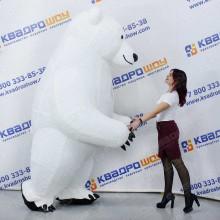новогодний костюм белый мишка