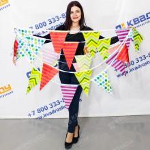 Гирлянда треугольник разноцветные флажки