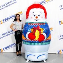 Снеговик новогодний декорационный