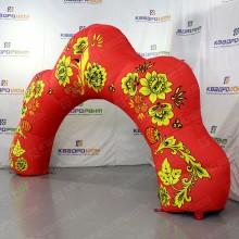 надувная арка хохлома праздничное оформление ярмарки