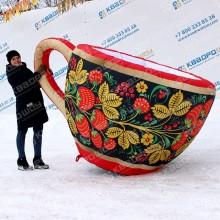 надувная чашка в русском стиле декорация на масленицу