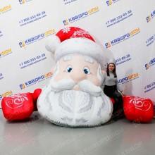 Надувная декорация Дед Мороз на крышу здания