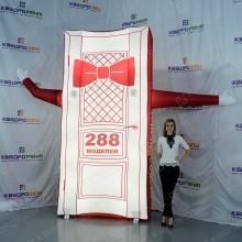 Надувная дверь с подсветкой в красной бабочке