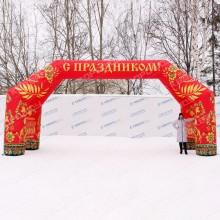 надувная фигура арка праздничная красная хохлома