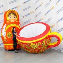 Надувные декорации Матрешка и чашка