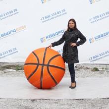Надувная фигура огромный мяч баскетбольный оранжевый