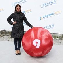 Надувная фигура шар для боулинга большого диаметра