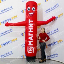 Надувная рекламная колонна с машущей рукой