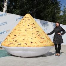 надувная конструкция большая тарелка чак-чака на сабантуй