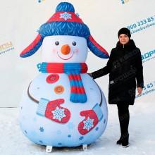 надувная конструкция уличный снеговик большого размера