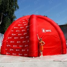 надувная красная палатка мтс