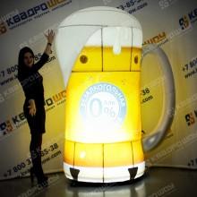 Надувная рекламная кружка с пивом