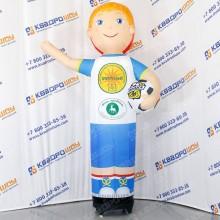 надувная кукла мальчик футболист зазывала