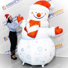 надувная рекламная фигура снеговик купить